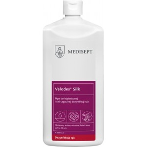 MEDISEPT do dezynfekcji rąk medyczny (higienicznej i chirurgicznej) Velodes Silk Płyn 1l