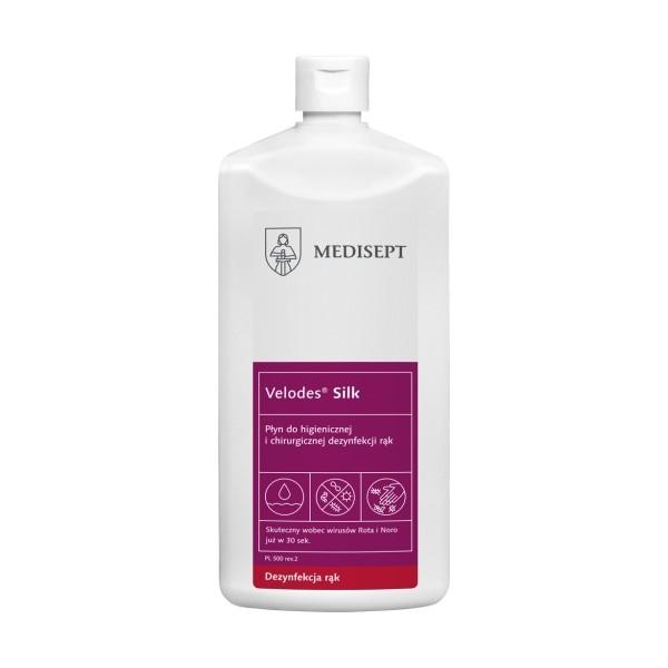 MEDISEPT Velodes Silk Płyn 1l do dezynfekcji rąk (higienicznej i chirurgicznej)